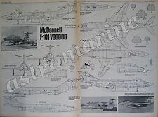 F-101 VOODOO 1.72 WARPAINT Scale Drawings Aviation News October 1979