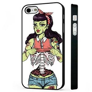 fd68fc3fc2749 Zombie Pin Up Girl Tattoo Rockabilly BLACK PHONE CASE COVER fits ...