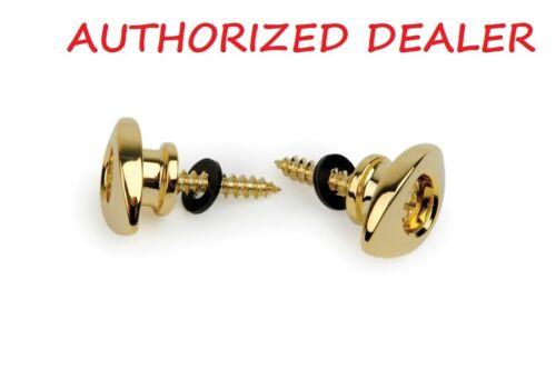 Button End Pin Gold Pair D/'Addario PWEEP302 Elliptical Guitar Strap Pin