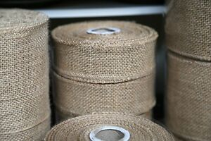 40mm-Hessian-Burlap-JUTE-RIBBON-10-metre-roll-Rustic-Vintage-Beach-Wedding