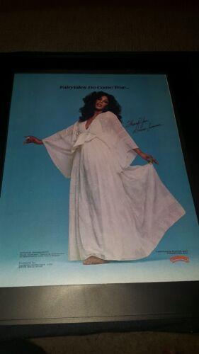Donna Summer Fairytales Come True Rare Original Promo Poster Ad Framed!