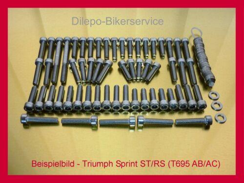 Triumph Sprint ST//RS 955i 01-04 Edelstahl Motorschrauben Schrauben Schraubensatz