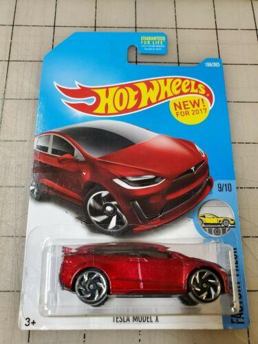 Hot Wheels Tesla Model X Red HW Factory Fresh 9//10