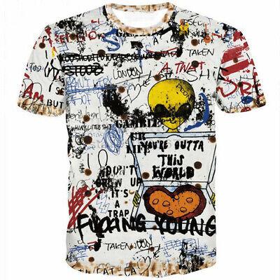 Innovation Graffiti Sentence Women Men T-Shirt 3D Print Short Sleeve Tee top