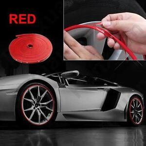 26ft Car Universal Auto Accessories Exterior Wheel Rim Guard Decoration Red Line Ebay