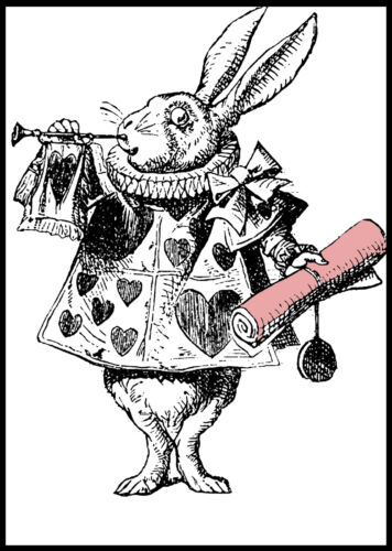 Alice In Wonderland im Late Rabbit Vintage Art Print #4 A3//A4 size Posters
