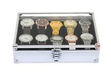 New 12 Grids Mens Slots Jewelry Watch Display Case Aluminum Box Storage Holder