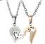 Liebe-Herz-Halskette-Paar-Puzzle-Anhaenger-Liebhaber-Zirkonia-Edelstahl-Necklace Indexbild 13