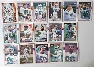 a645fccad06 1989 Topps Philadelphia Eagles Team Set of 16 Football Cards | eBay