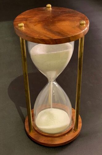 """Wooden Antique Hourglass Sand timer Vintage Hourglass Maritime Nautical Decor 6/"""""""