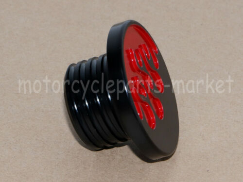 Red Fire Flame Fuel Gas Tank Cap Cover For Harley Sportster Heritage Softail