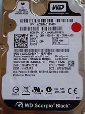 Western Digital WD3200BEKT-75PVMT0 | HHCTJAB | 28 APR 2011 | 320 GB