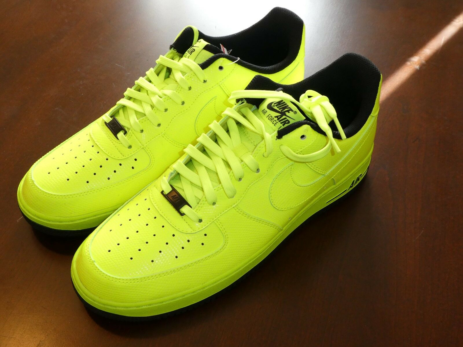 Nike Air Force 1 one shoes mens new 488298 703 Volt sneakers