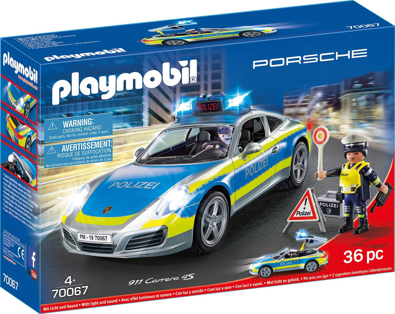 PLAYMOBIL 70067 City Action Porsche 911 Carrera 4S Polizei Figuren und Fahrzeug