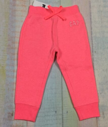 Baby Gap Girls 2 Nwt 2T Neon Hot Pink Logo Sweatpants