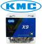 KMC X9 9 Vitesse Vélo Chaîne s/'adapte Road Mountain Bike Trekking road Shimano SRAM X9.93 nouveau