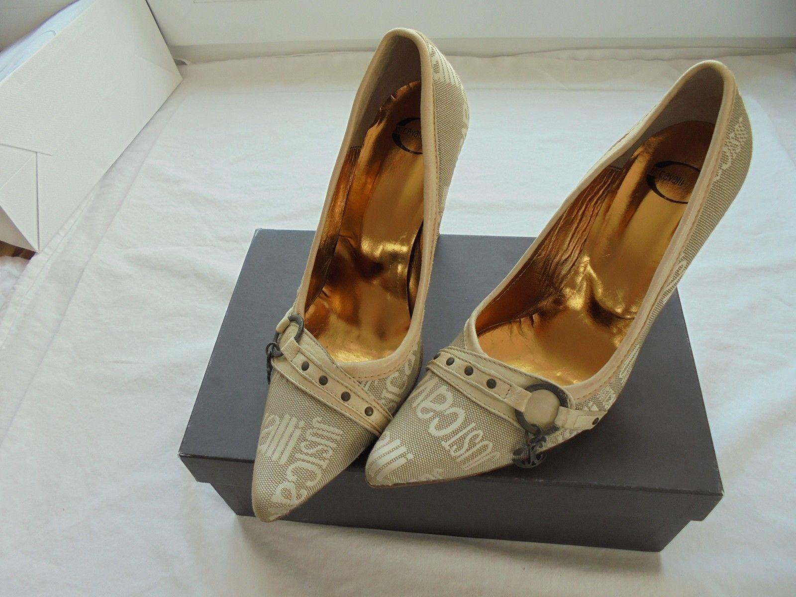 Just Cavalli Pumps NP:  + OVP High Heels Luxus Schuhe Designer Schuhe Luxus Gr. 39 f84489