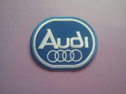 AUDI BLUE OVAL MOTORSPORTS RACING CAR VAN TRUCK SEW ON /& IRON ON PATCH: a