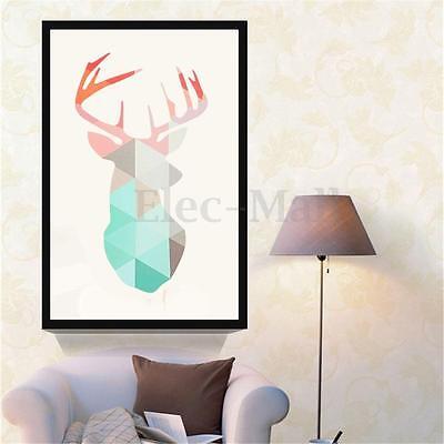 Modern HD Unframed Geometric Deer Canvas Art Print Home Decor Wall Mural Picture
