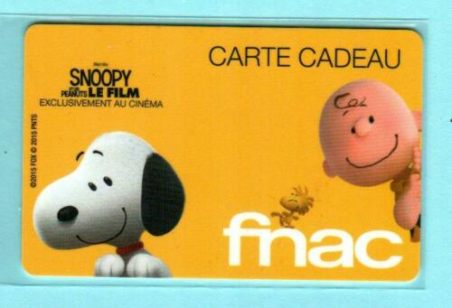 FNAC Snoopy // Peanuts 2015 Gift Card France $0