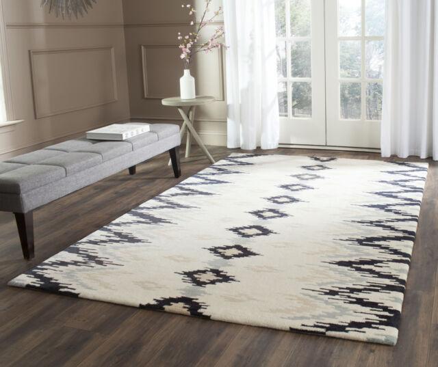 Dark Grey Safavieh Soho Wool Area Rug