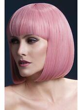 "Fever Elise Wig 13"" Pink Short Bob Wig Ladies Deluxe Fancy Dress Wig"