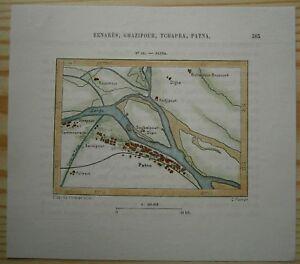 Patna In India Map.1883 Perron Map Patna Bihar India 81 Ebay