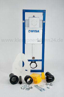 WC Schallschutz Set Wisa XS WC Element mit Betätigung Argos weiss