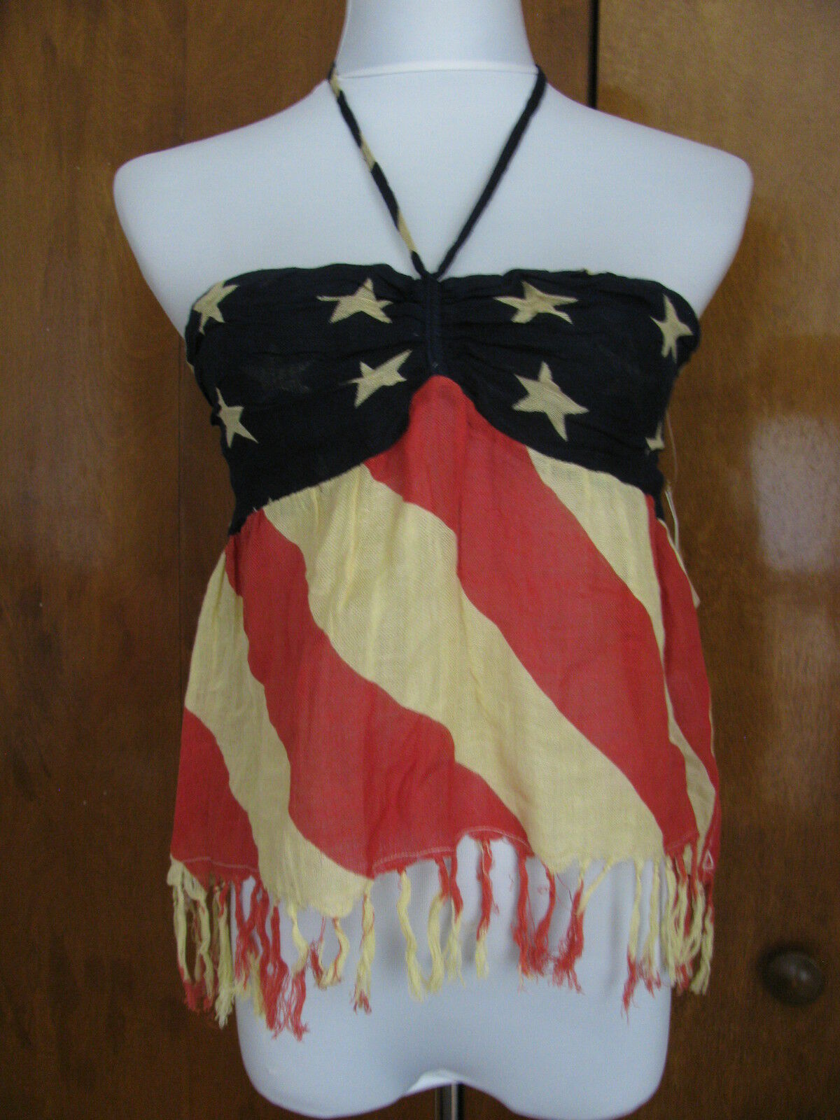 Ralph Laure Denim & Supply damen's Blau rot Weiß American flag top small NWT
