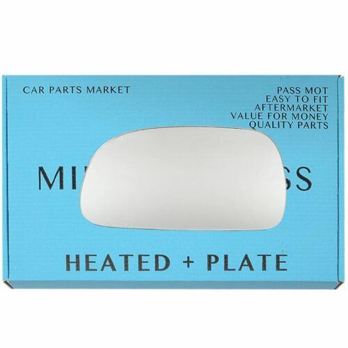 Placa Cristal Espejo De Ala Lado Izquierdo Para Toyota Carina 92-98 Calentado