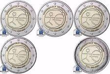 Deutschland 5 x 2 Euro 2009 bfr. Gemeinschaftsausgabe: 10 Jahre WWU Mzz. A - J