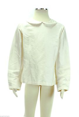 JACADI Girl/'s Rem Natural LS Silk Back Button Blouse Size 2 Years NWT $78