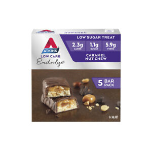 Atkins Endulge Caramel Nut Chew 5 Bars 170g