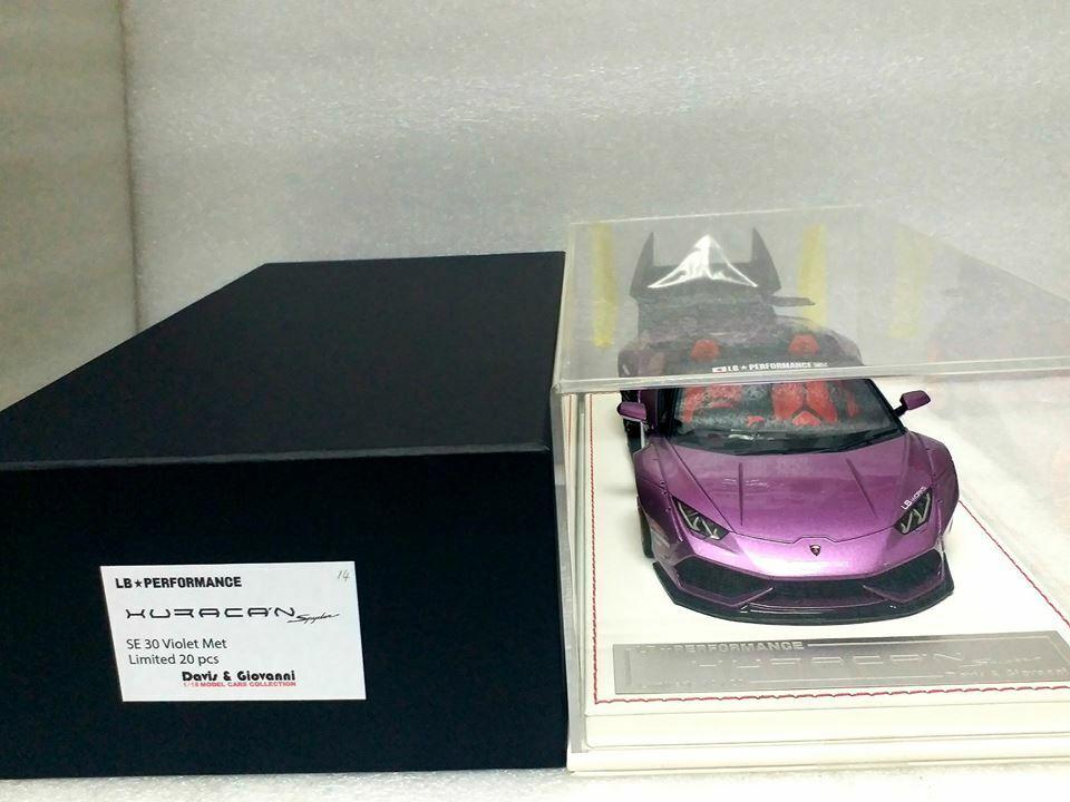 Davis & Giovanni 1 18 LB PERFORMANCE HURACAN Spyder SE 30 purple w display case