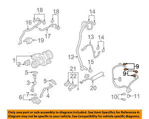 BMW OEM 08-16 X6 4.4L Turbocharger Turbo-Oil Outlet Tube Upper Seal 07119963072