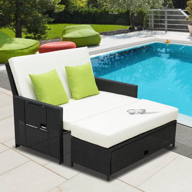 Sun Lounger Seat 2 Seater Sofa Bed