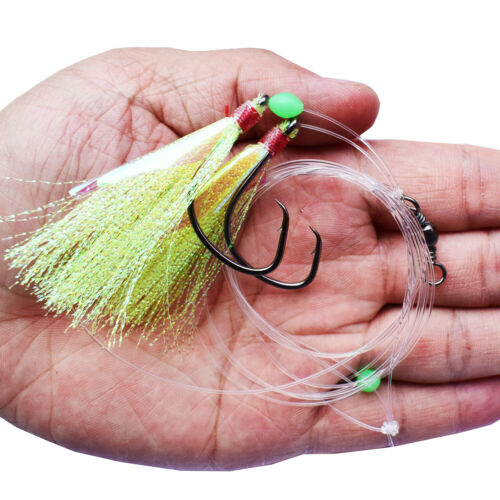 5pcs Fishing Lures Flasher Sabiki Rigs Fish Skin Bait Catching Mixed Fishing Rig