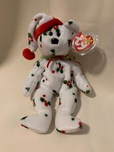 Ty beanie babies 1998 HOLIDAY TEDDY Vintage Plush Christmas Decoration PRISTINE!