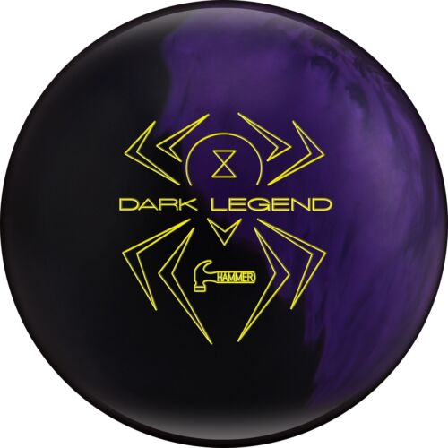 13lb Hammer DARK LEGEND Hybrid Reactive Bowling Ball BLACK/PURPLE PEARL