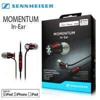 Sennheiser M2iei Momentum In Ear Headphones For Apple Iphone Red