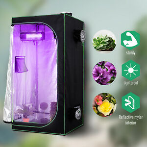 Outsunny80-80-160cm-Indoor-Plant-Grow-Tent-Green-Room-Hydroponic-Canopy-Mylar