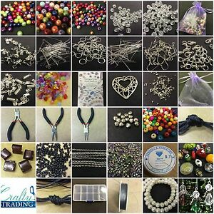 Large-Jewellery-Making-Starter-Kit-800-Beads-Tools-Findings-Box-FREE-ANGEL-KIT