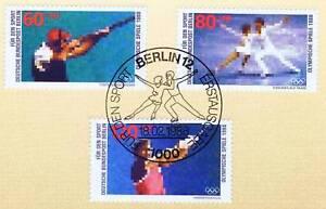 Berlin-1988-Olympische-Spiele-Sport-Nr-801-803-mit-Ersttags-Sonderstempel-1A
