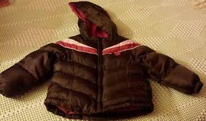 Style; In Logical Little Girls ♡ Weathertamer ♡ Brown & Fushia Pink ♡ Winter Coat/ Jacket ♡ 24m Fashionable