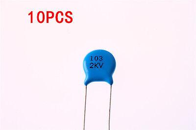 10pcs 20KV 10nF 0.01uF 103 High Voltage Ceramic Capacitor
