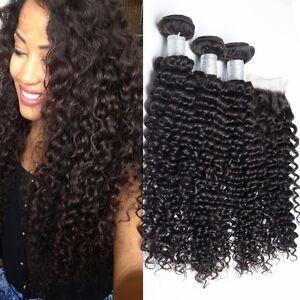 brazilian kinky curly 3pcs virgin human hair deep wave