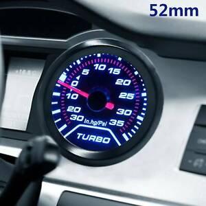 52mm-Turbo-Boost-30Psi-POB-LED-indicatore-di-pressione-PUNTATORE-METRO-quadranti-affumicato