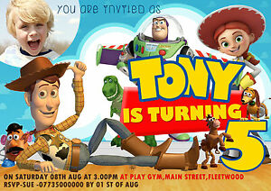 personalized birthday party toy story invitations toy story party
