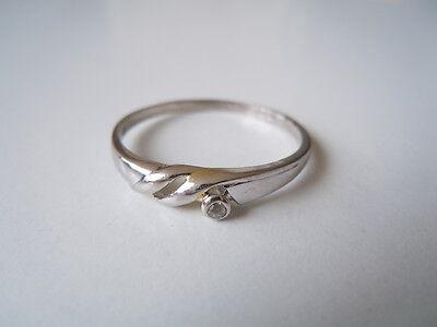 Precious Metal Without Stones 925 Sterling Silber Herren Verlobungs Ring Mit Kleinem Diamant 1,6 G/rg 65 Fine Jewelry