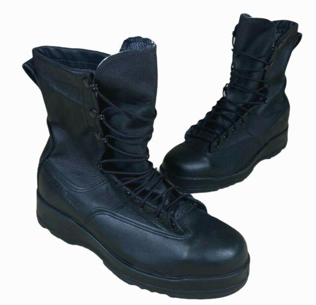 Belleville Goretex Steel Toe Mens 10 R Black Leather Lace Military Combat Boots